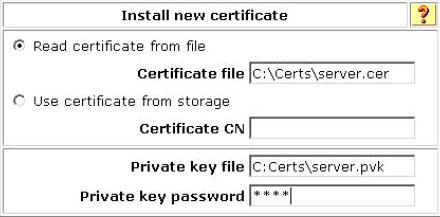 ACS install new Certificate