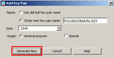 Add key pair