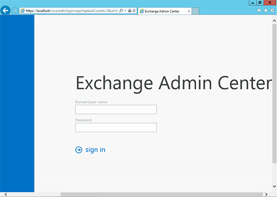 Exchange Admin Center