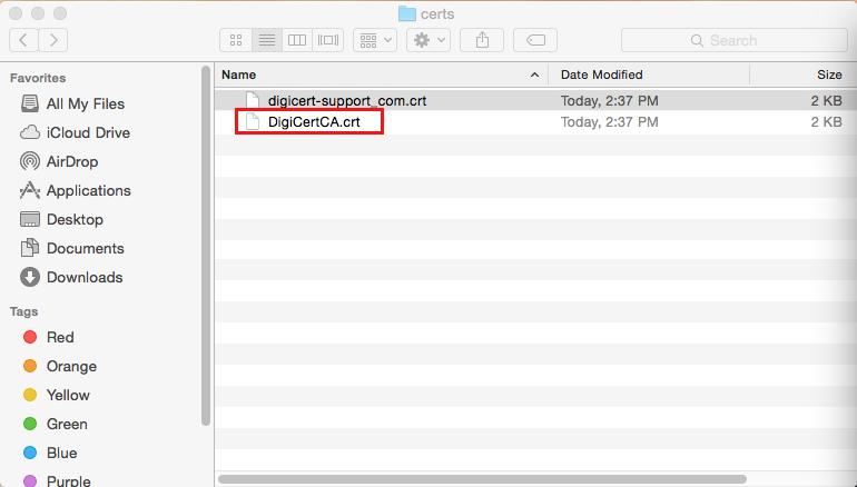 Mac OS X Yosemite SSL Install Guide | Secure128