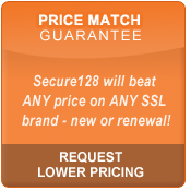 Secure128 SSL Certificates Price Match Guarantee